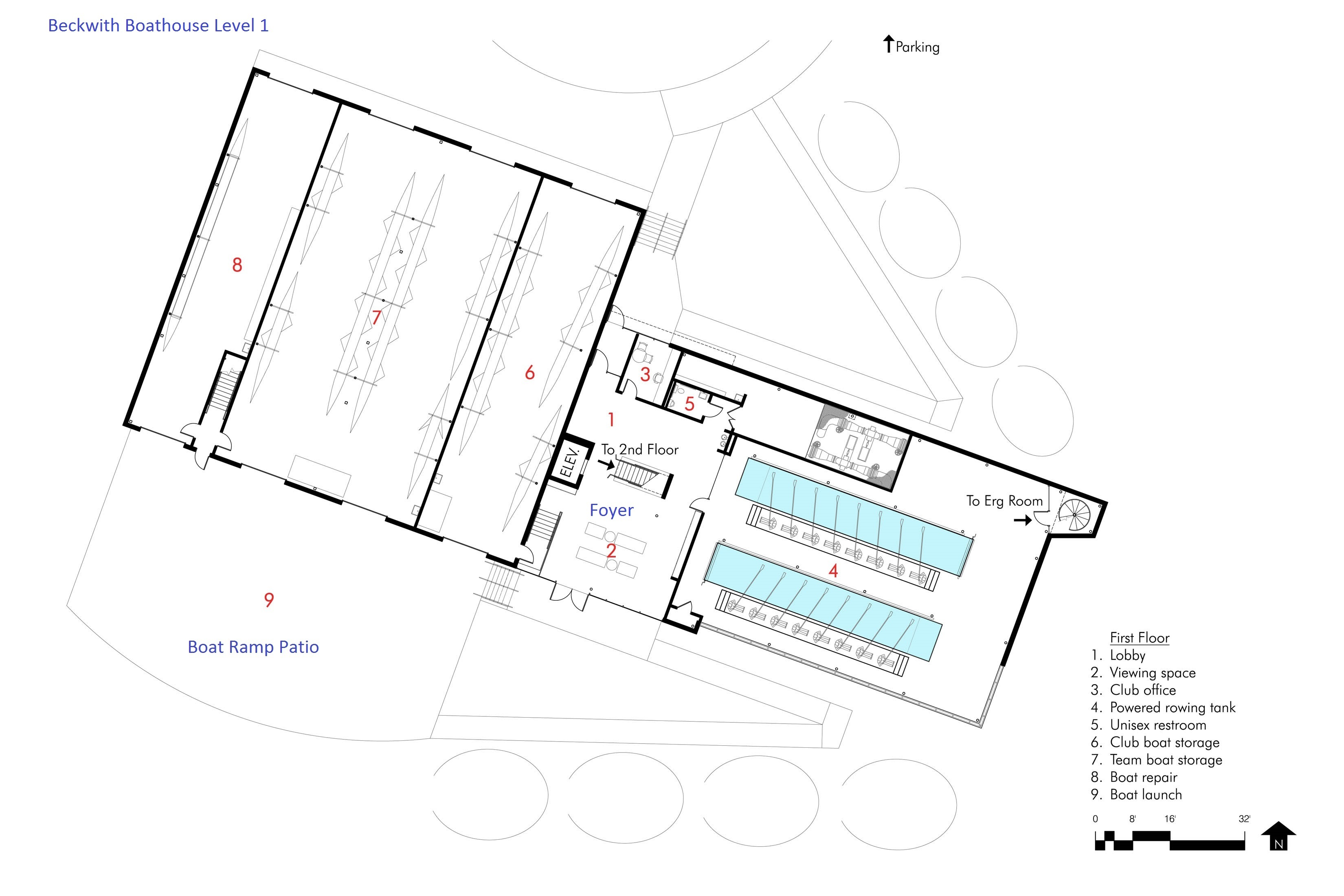 Beckwith Floor Plan (Level 1)